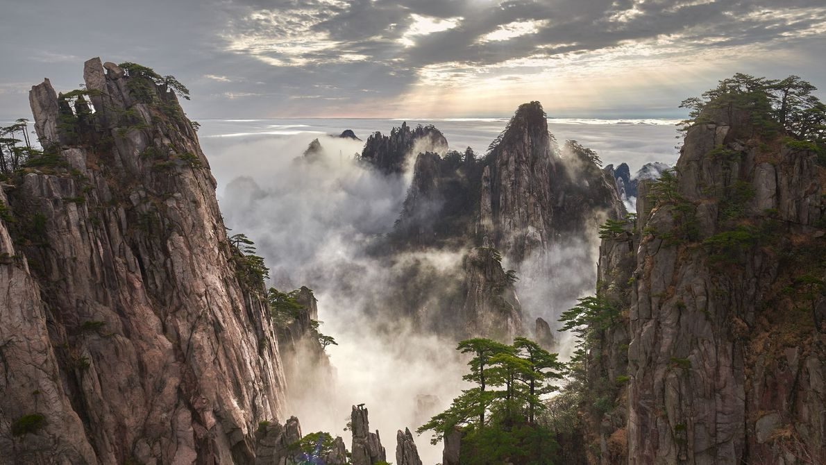 Huangshan Mountain Range, China