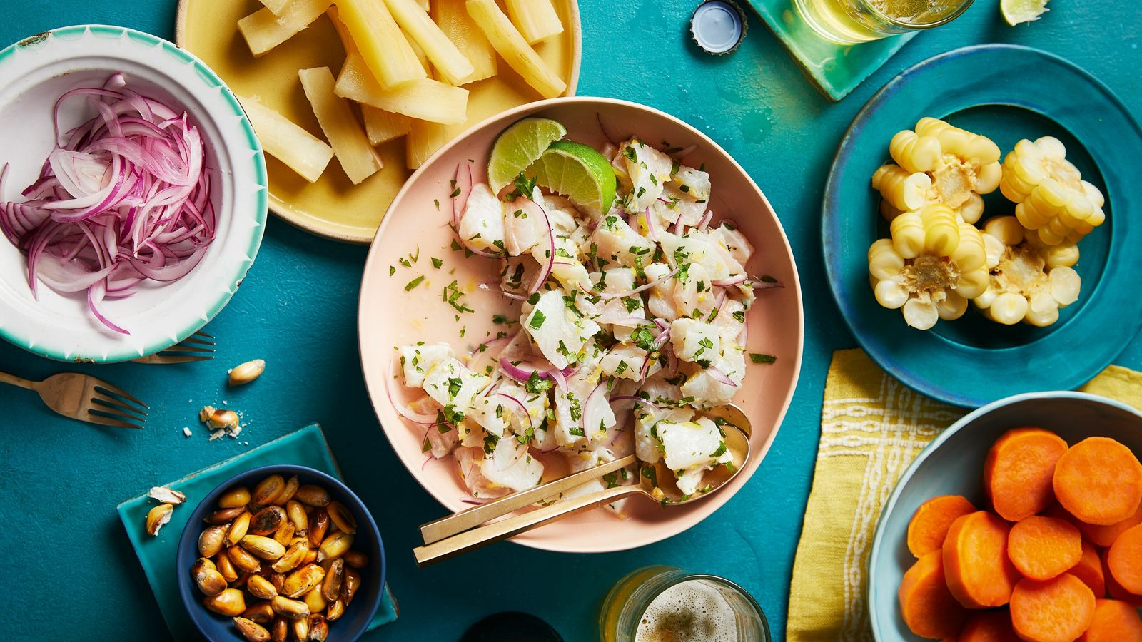 Today's best-known ceviches are served dressed in a base of lime juice, salt, chilli and onion, ...