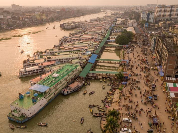 The main ferry terminal in Dhaka, the capital of Bangladesh, is a focal point of traffic ...