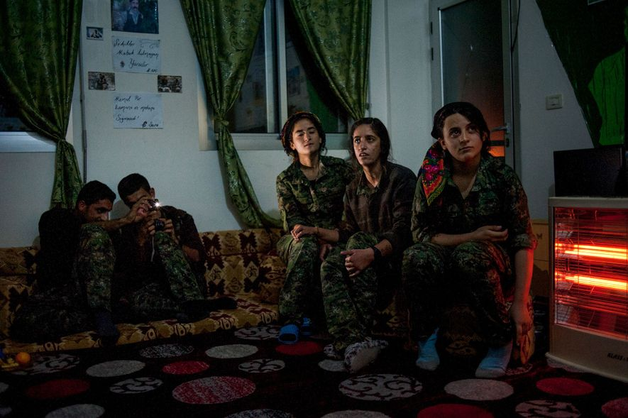 """""""This photo was taken while in Syria, in the Kurdish region of Rojava. I was following ..."""