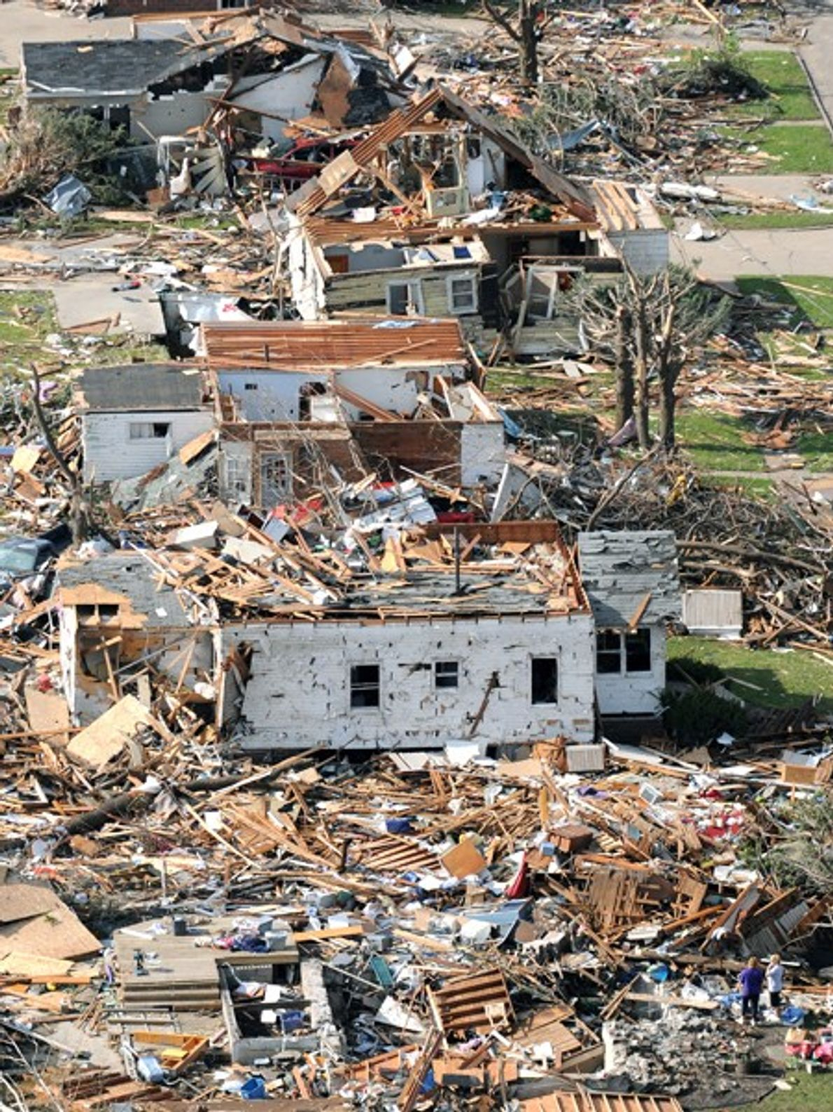Several homes in a row were destroyed by a May 2008 tornado in Parkersburg, Iowa. Tornadoes ...