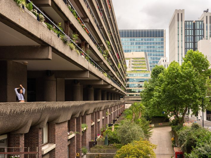 The Brutalist Barbican Estate originated in the 1960s on an area left empty by World War ...