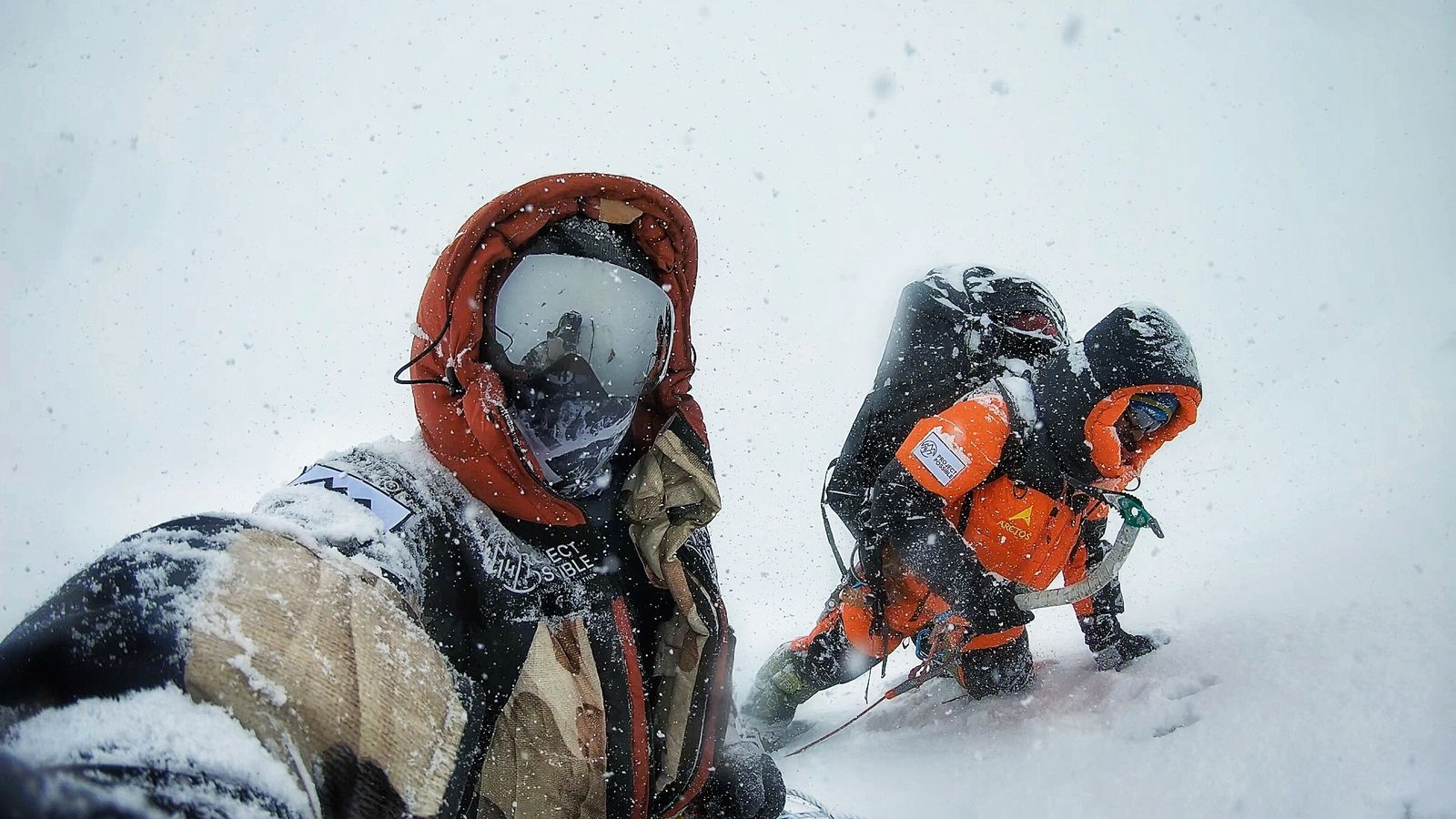 Nims Purja on top of Dhaulagiri in bad weather. Unlike Everest, which has been commercialised to the ...