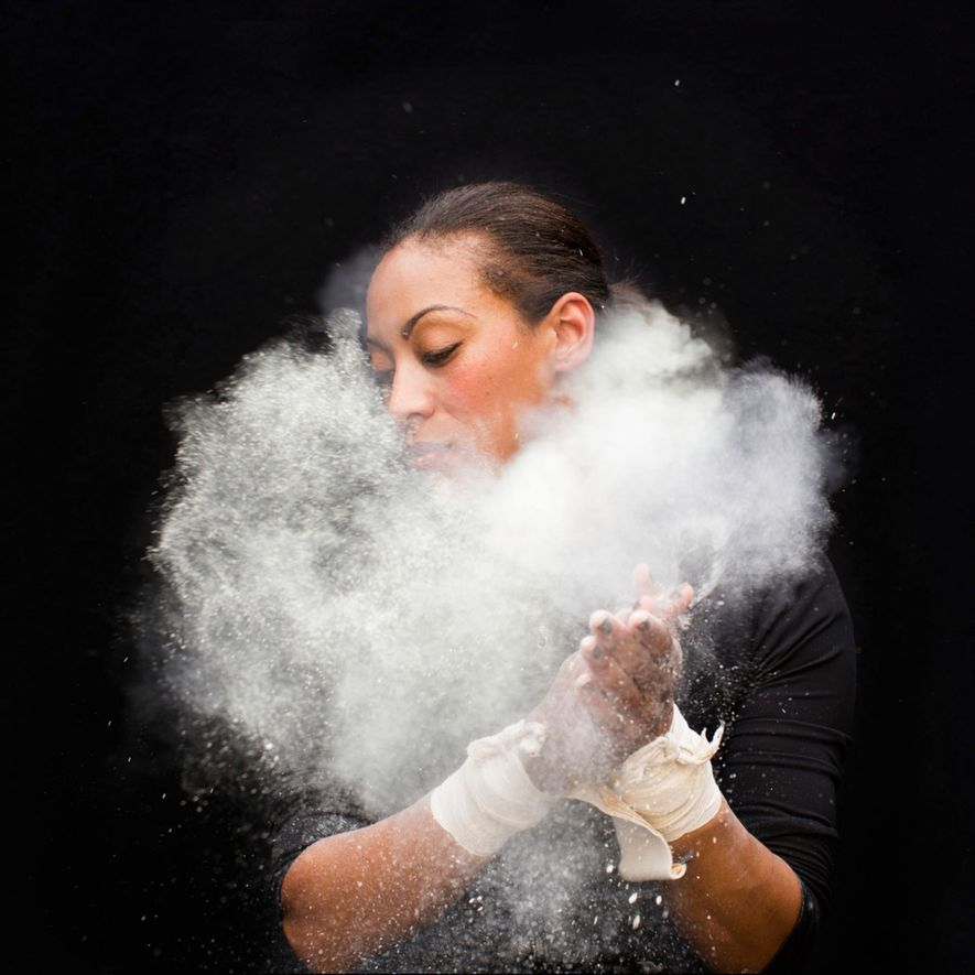 """""""This is a portrait I made of trapeze artist Kristin Finley, who left her corporate job ..."""