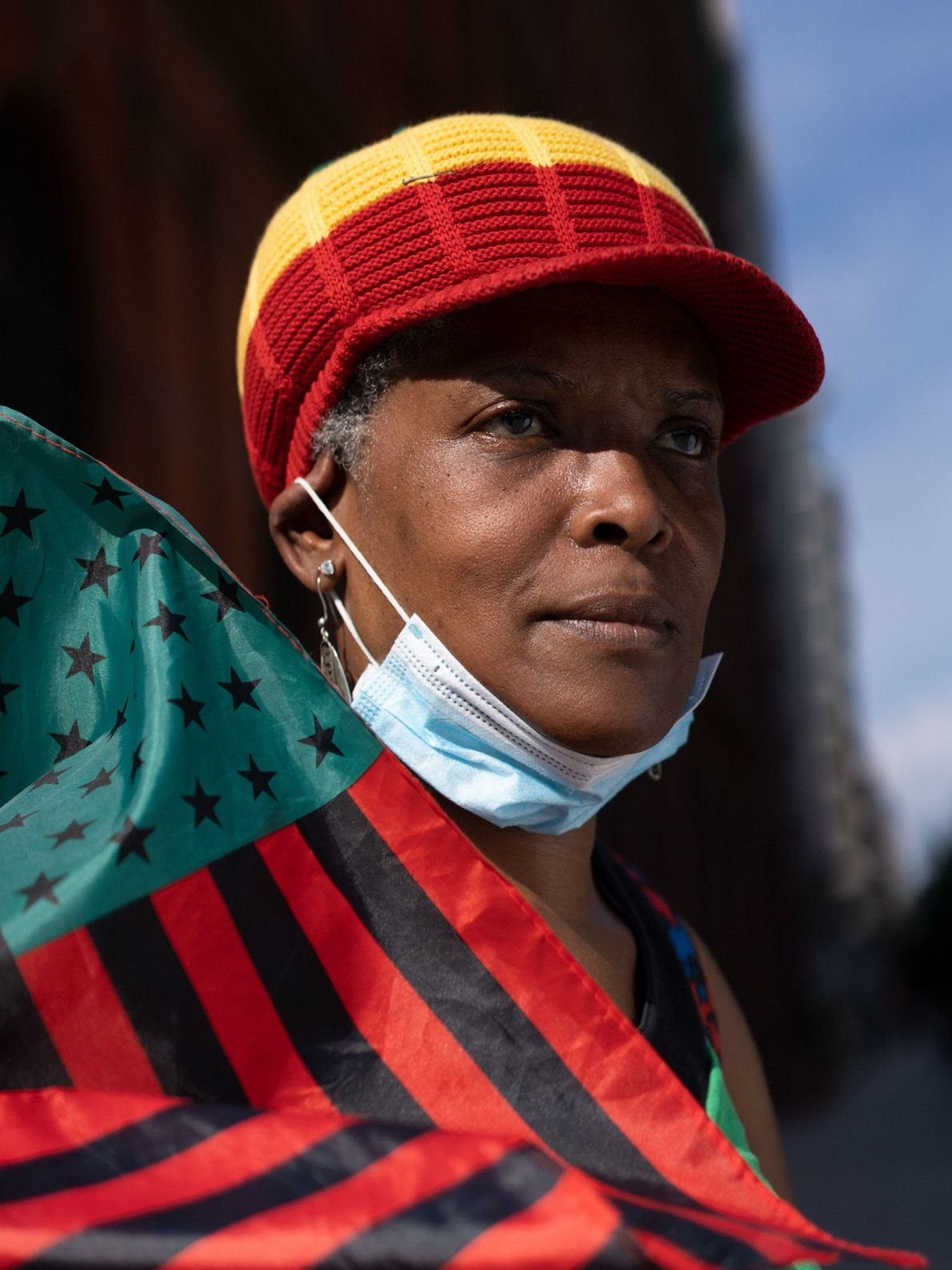 Maria Modlin, also known as Yaya, 55, marches with a group of protesters from the Lincoln ...