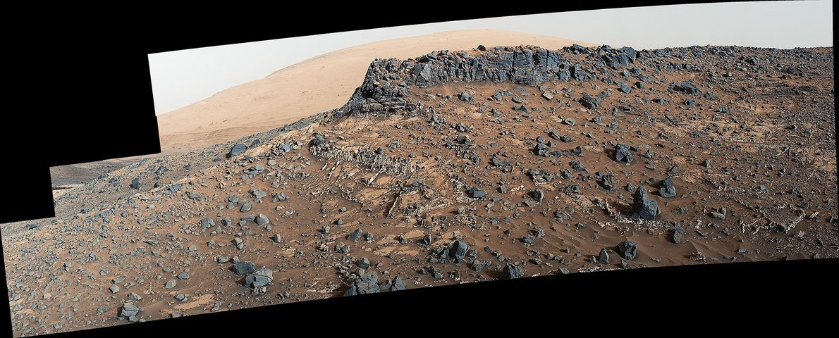 Researchers used the Curiosity rover in March 2015 to examine the structure and composition of the ...