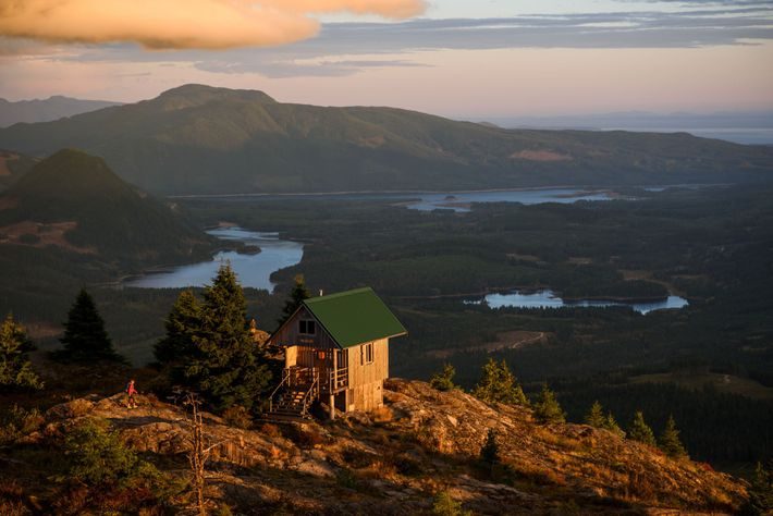 The creation of the Sunshine Coast Trail began in 1992 and today the hut-to-hut route is ...