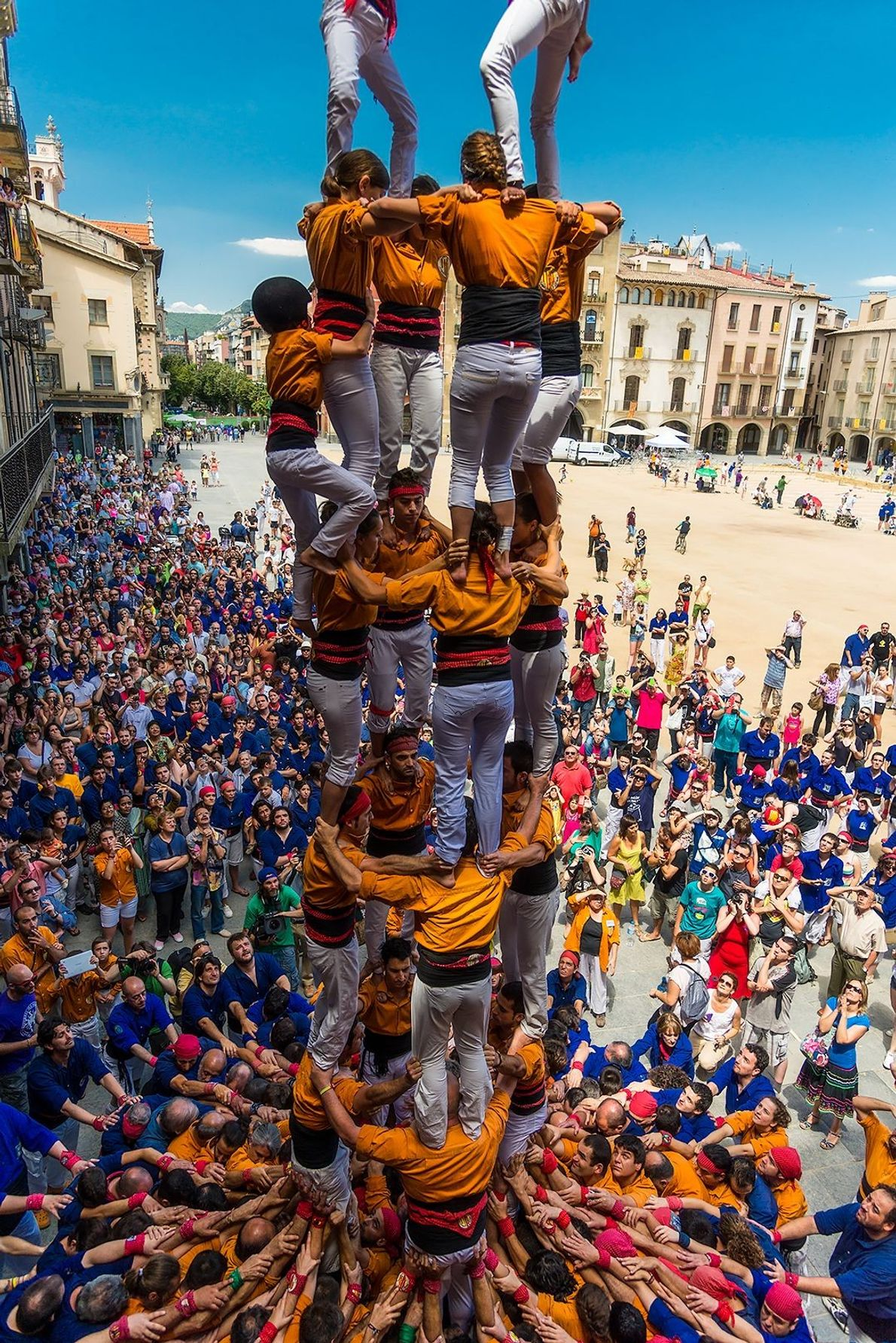 """""""For hundreds of years, Catalans have been mastering the building of castells, human castles or towers. ..."""