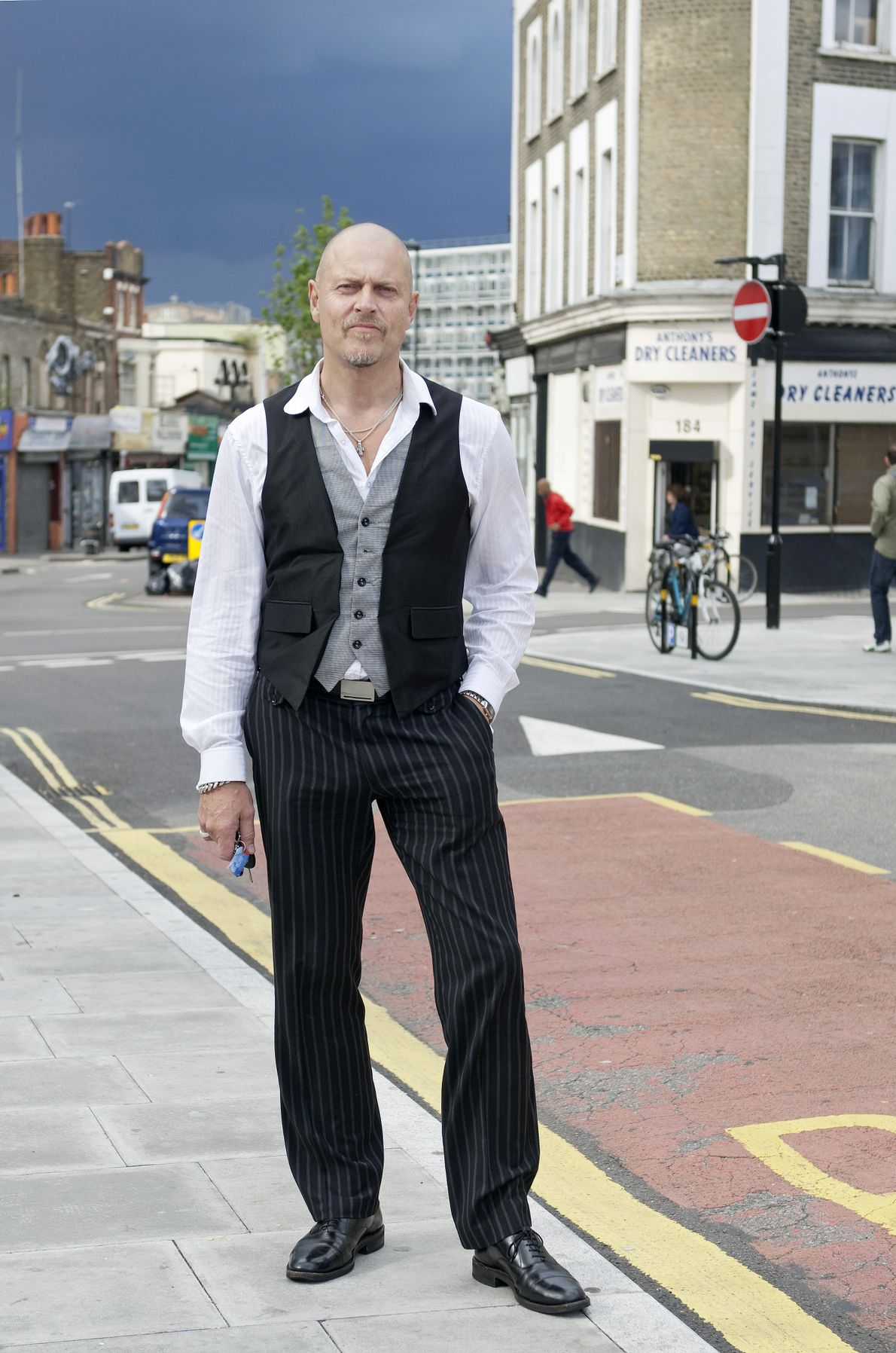 Hackney resident photographed on street