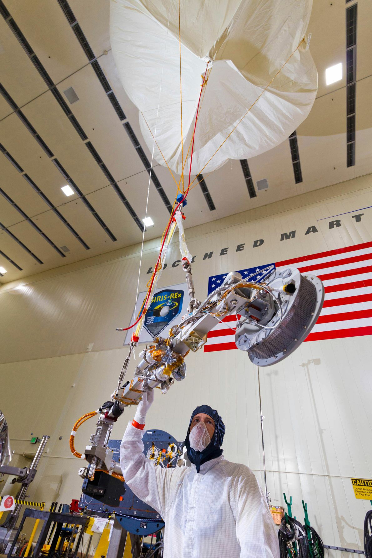When Lockheed Martin engineers tested the deployment of OSIRIS-REx's Touch and Go Sample Acquisition Mechanism (TAGSAM), ...