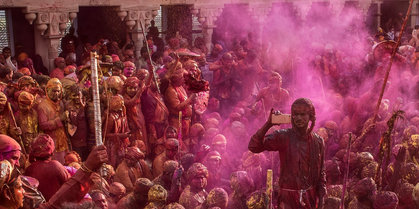 Photo story: celebrating Holi festival in India's Braj region