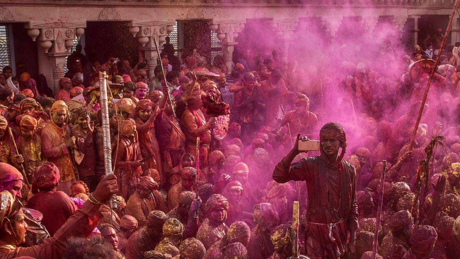 In Holi, ancient traditions are celebrated in a modern way. Mobile phones — ubiquitous symbols of ...