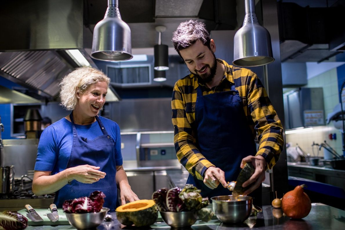 Inside the kitchen of her restaurant Hiša Franko, chef Ana Roš imparts some culinary wisdom to ...