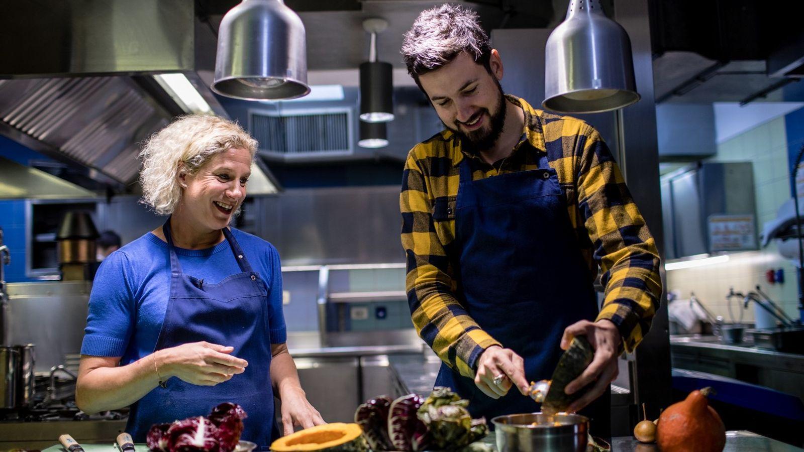 Inside the kitchen of her restaurant Hiša Franko, chef Ana Roš imparts some culinary wisdom to ...