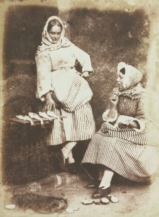 'Newhaven fishwives' Jeanie Wilson and Annie Linton, photographed in 1845 by David Octavius Hill and Robert Adamson. Pictured ...