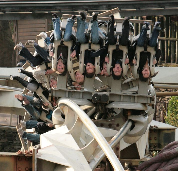 Joy riders on the 81kph Nemesis roller coaster at Alton Towers will hit 3.5G. Astronauts have ...