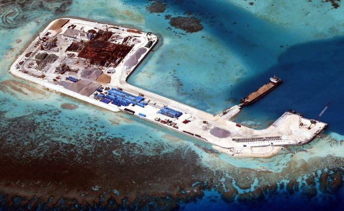 The Spratly Islands, one of three archipelagos in the South China sea, are the scene of ...