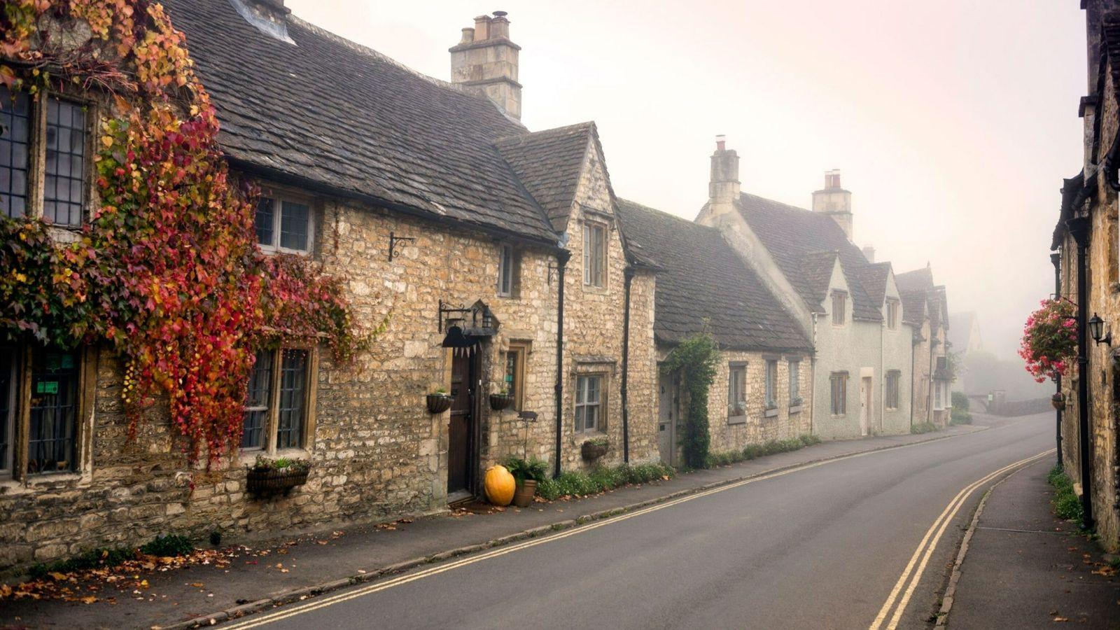 Foggy English Village