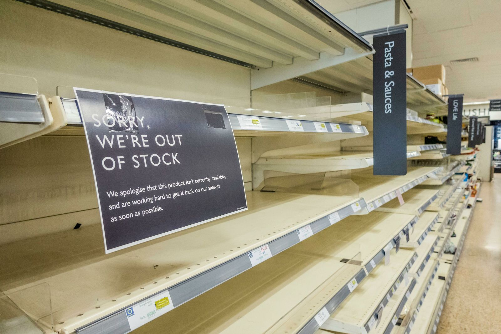 London, March 2020: During the first lockdown in the UK in spring, many supermarkets suffered a ...
