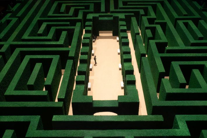 A replica of the model maze in the Stanley Kubrick film The Shining. Fittingly for the ...