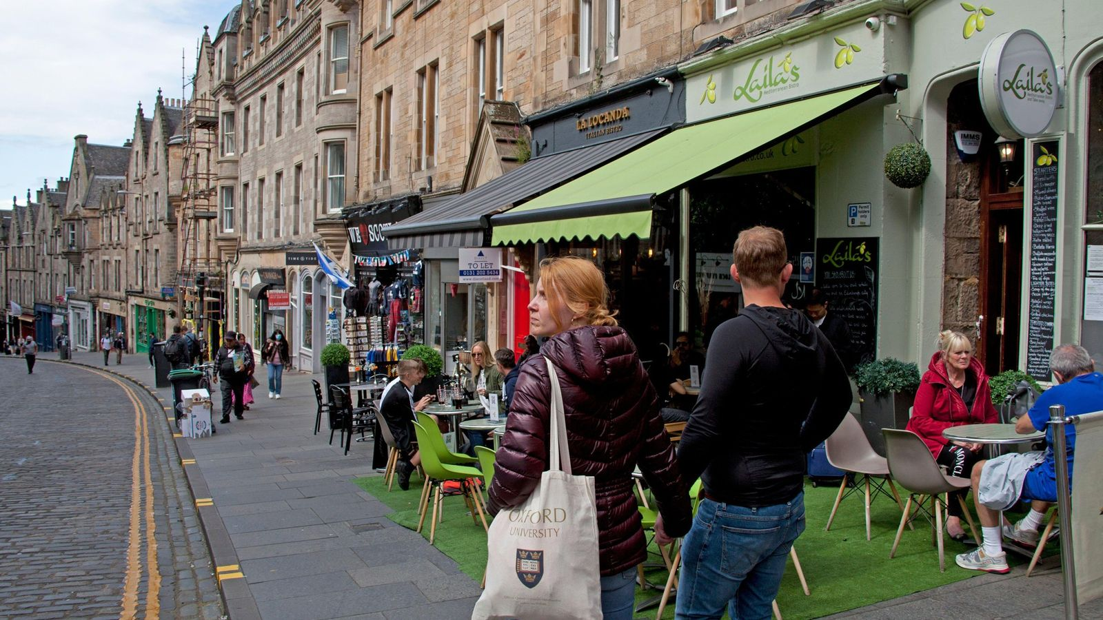In Edinburgh's Old Town, Cockburn Street has been closed to cars since July to give residents, ...