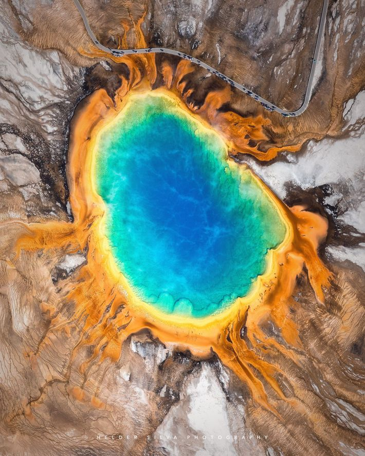 """""""When I was young, I remember seeing a photo of the Grand Prismatic Spring in an ..."""