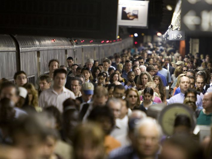 New York's Grand Central Station overflows with a sea of commuters and travellers at rush hour. ...