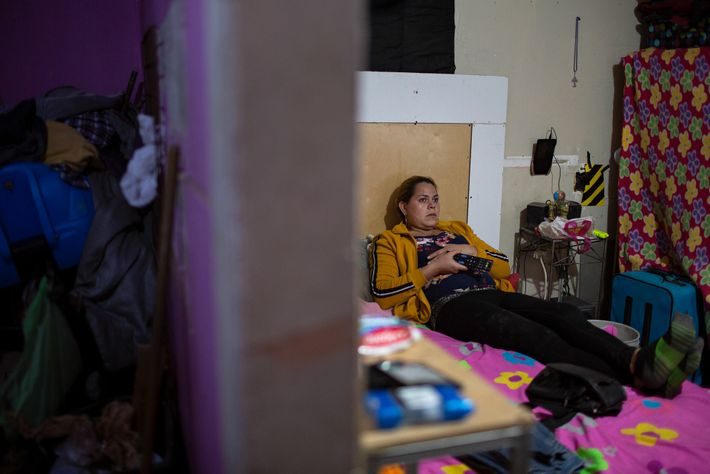 Kataleya watches television from her bed. She says the long months of uncertainty and trauma at ...