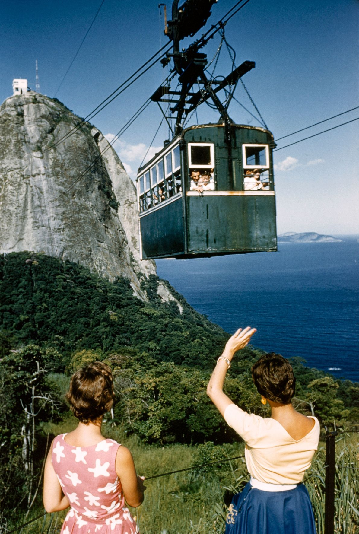 A cable car climbs Sugarloaf Mountain for a new perspective