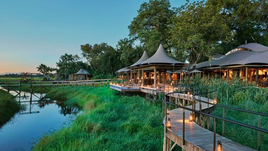 Perched on the silvery channels of the Okavango Delta, Xigera Lodge goes the extra mile to ...