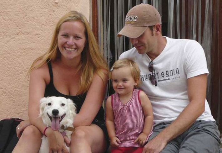 Dogged pursuit: Alice Griffin and family