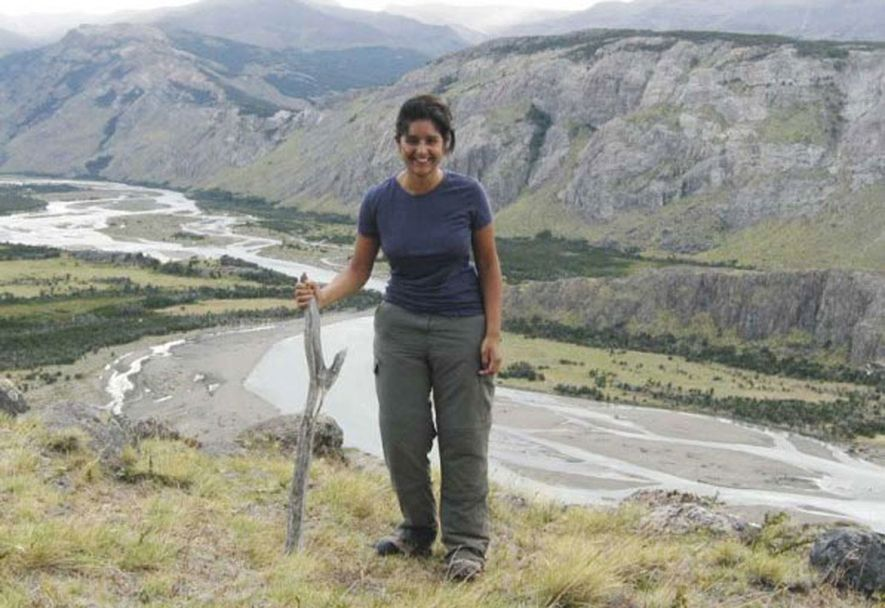 Branching out: Meera Dattani hiking in Argentina.