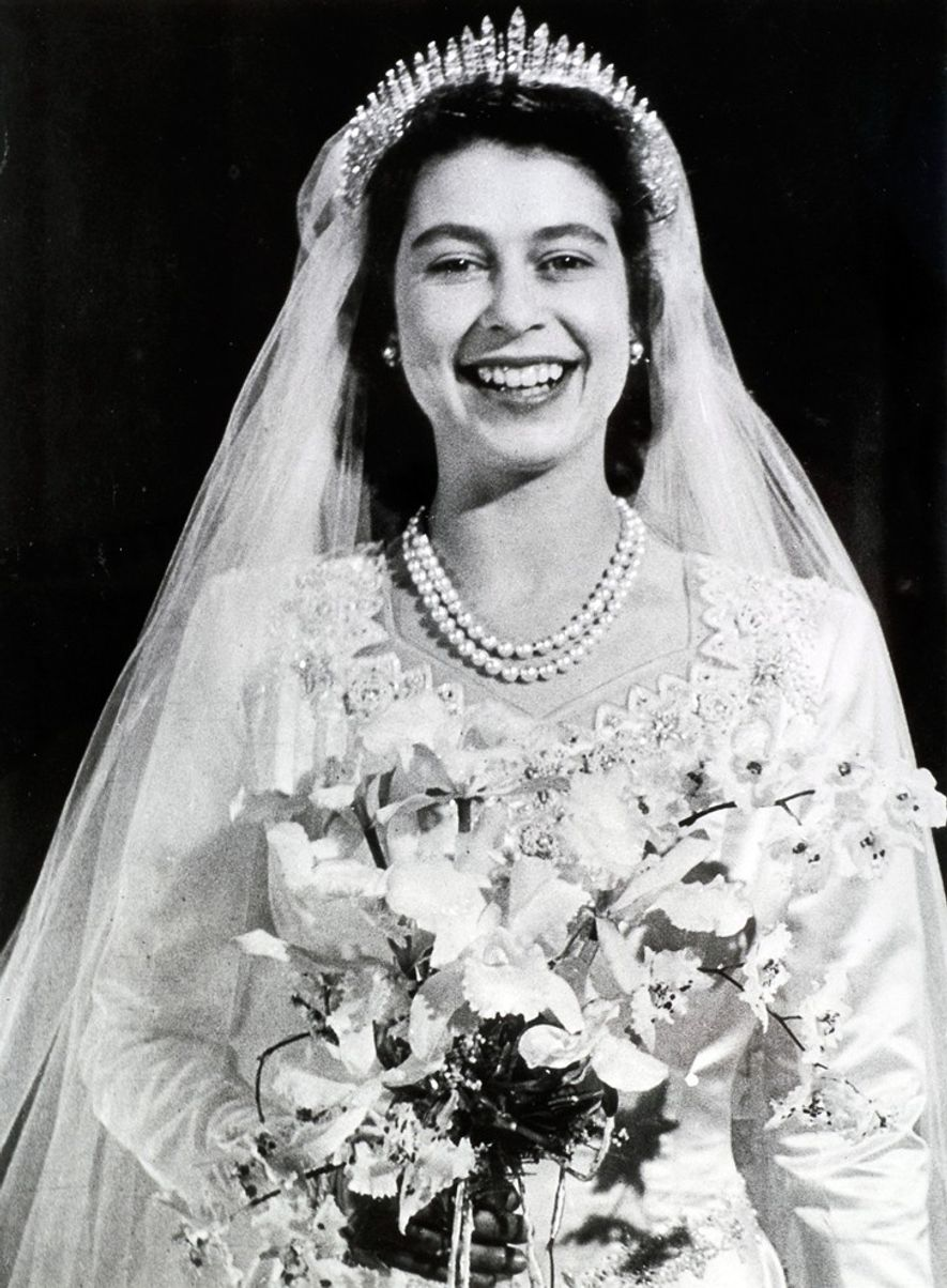 When the future Queen Elizabeth II (pictured above) walked down the aisle in London's Westminster Abbey …