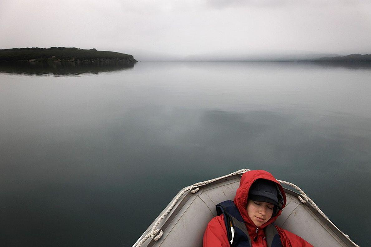 Woman in Raft