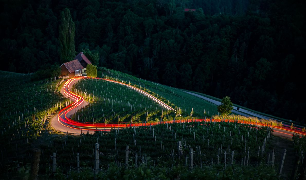 """""""There is a real heart shaped road at the border between Austria and Slovenia,"""" writes Your ..."""