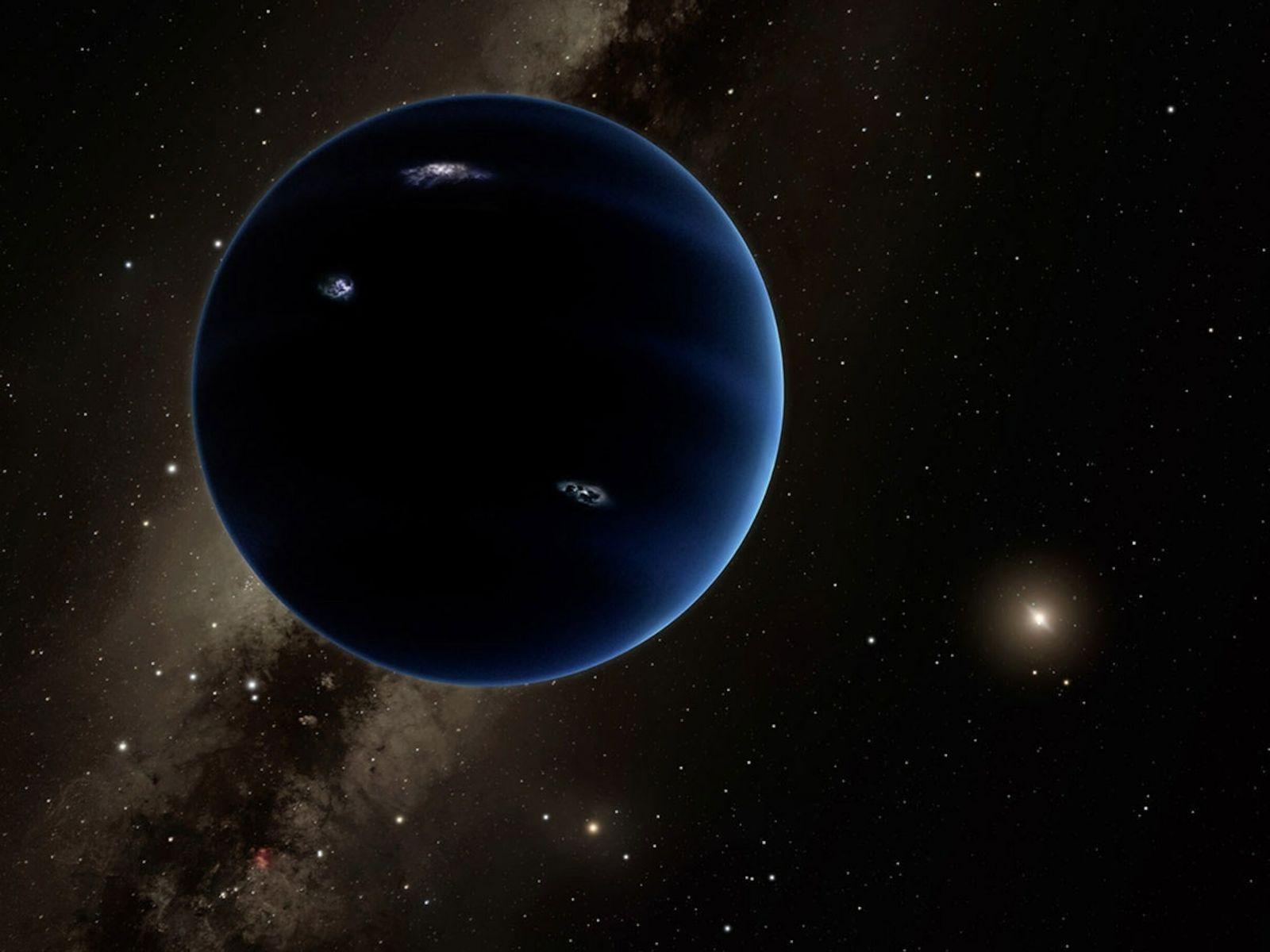 Some astronomers believe an undiscovered planet, some six times the mass of Earth, is lurking in ...