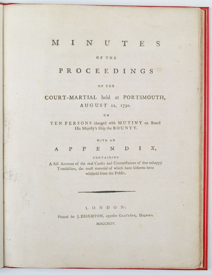 Minutes of the proceedings of the court-martial