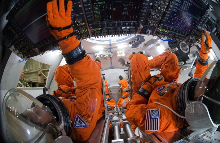 The space suits that astronauts would wear on the Martian surface are too bulky for the ...