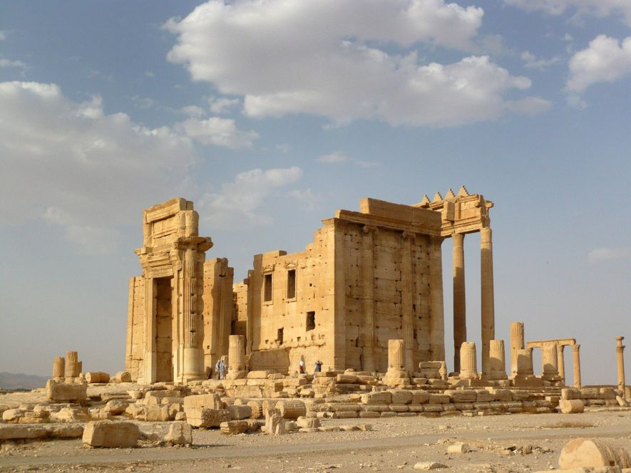 The Temple of Baal was one of the main attractions at Palmyra, a Roman-era trading outpost ...