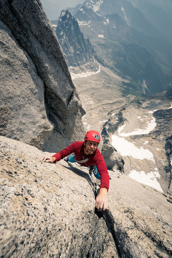 Leo Houlding on the 600m South Tower, one of the finest routes of its standard in ...
