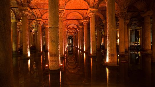 Istanbul's Basilica Cistern once contained some 17.5 million gallons of water.