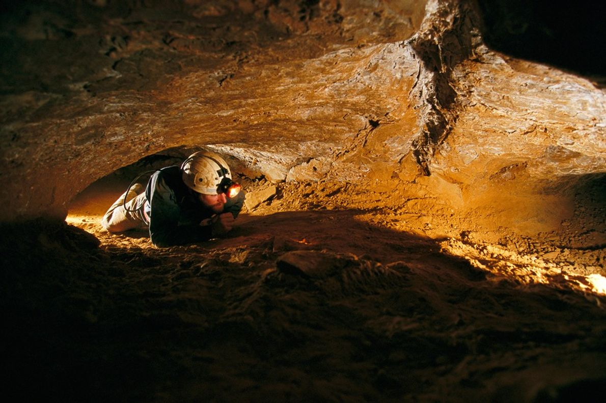 Mammoth cave is massive, in fact it's the world's longest known cave system, but cavers must ...