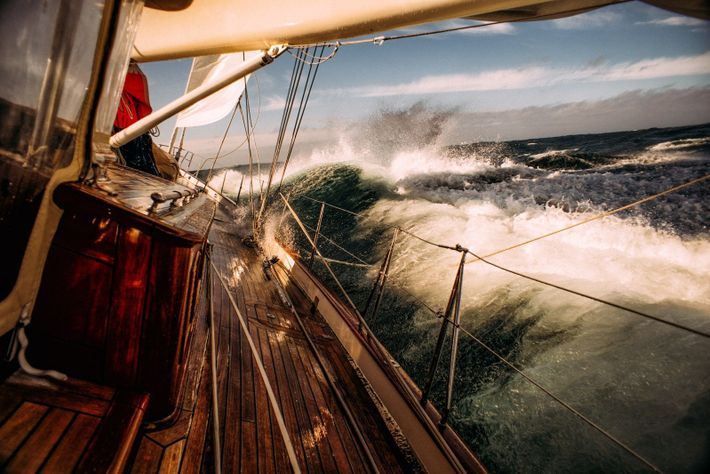 Your Shot photographer Ivan Kutasov captured this moment of a sailing adventure from Canada to Greenland.