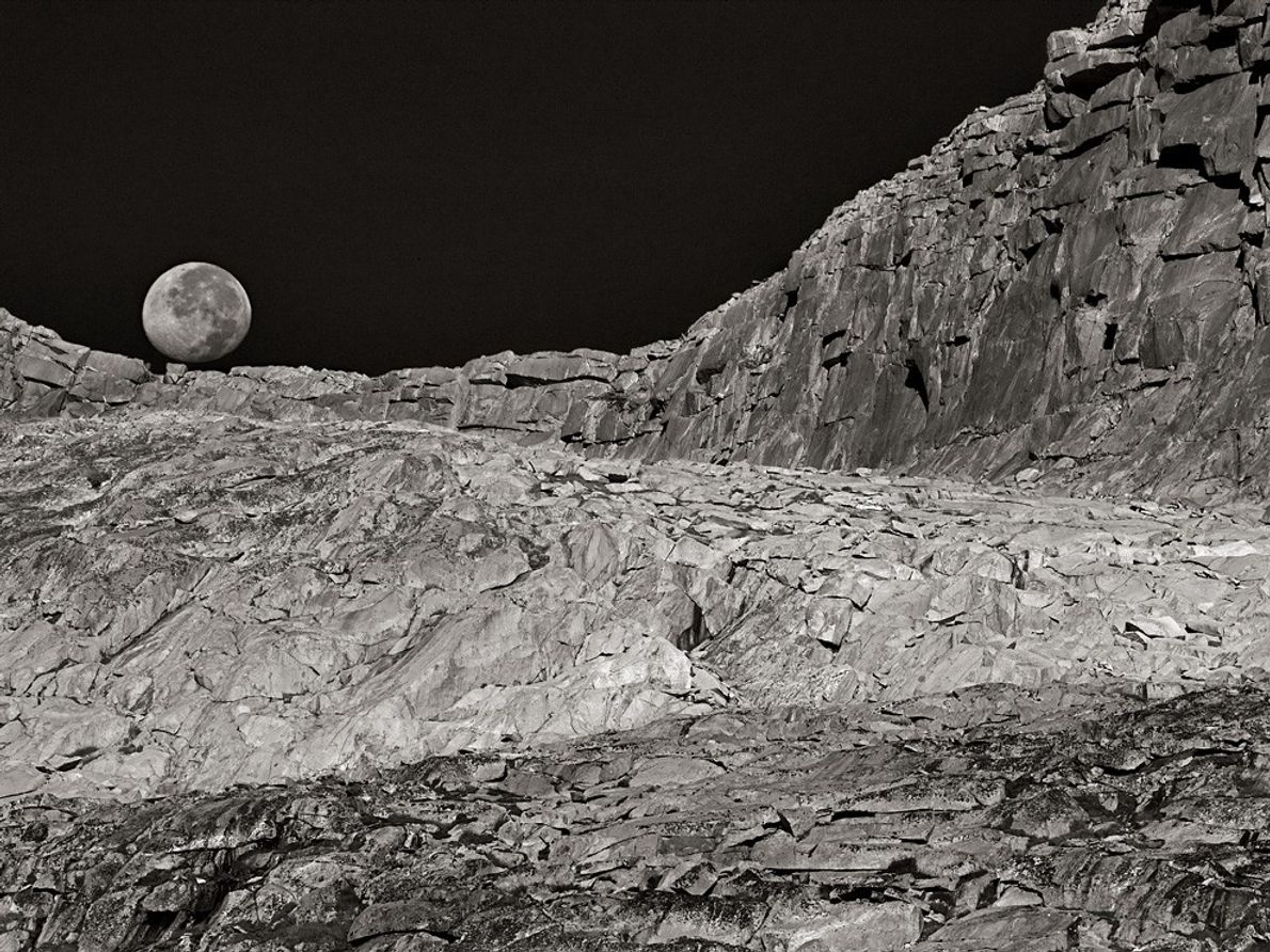 Moon and Landscape, California