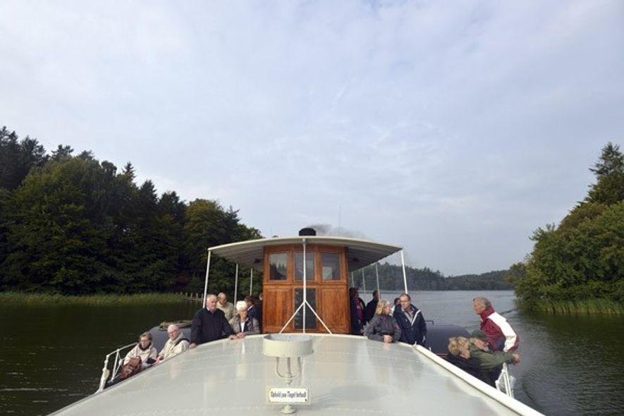 Hjejlen, the worlds' oldest working paddle steamer, on Denmark's Silkeborg Lakes