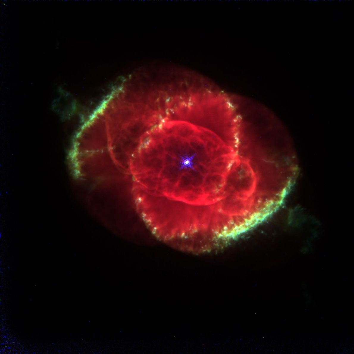 This 1995 portrait of the Cat's-Eye Nebula in the Draco constellation is considered one of the ...