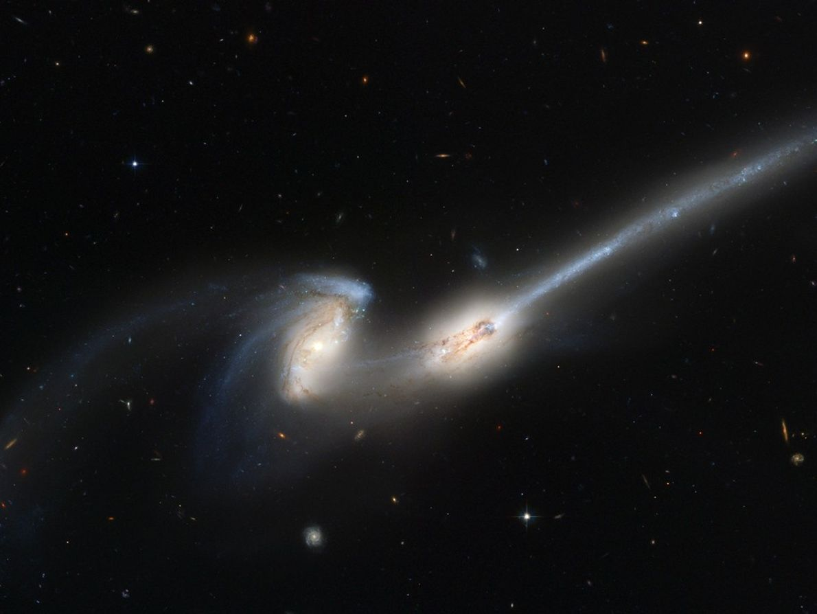 Astronomers believe this Hubble photograph offers a preview of what is in store for our Milky ...
