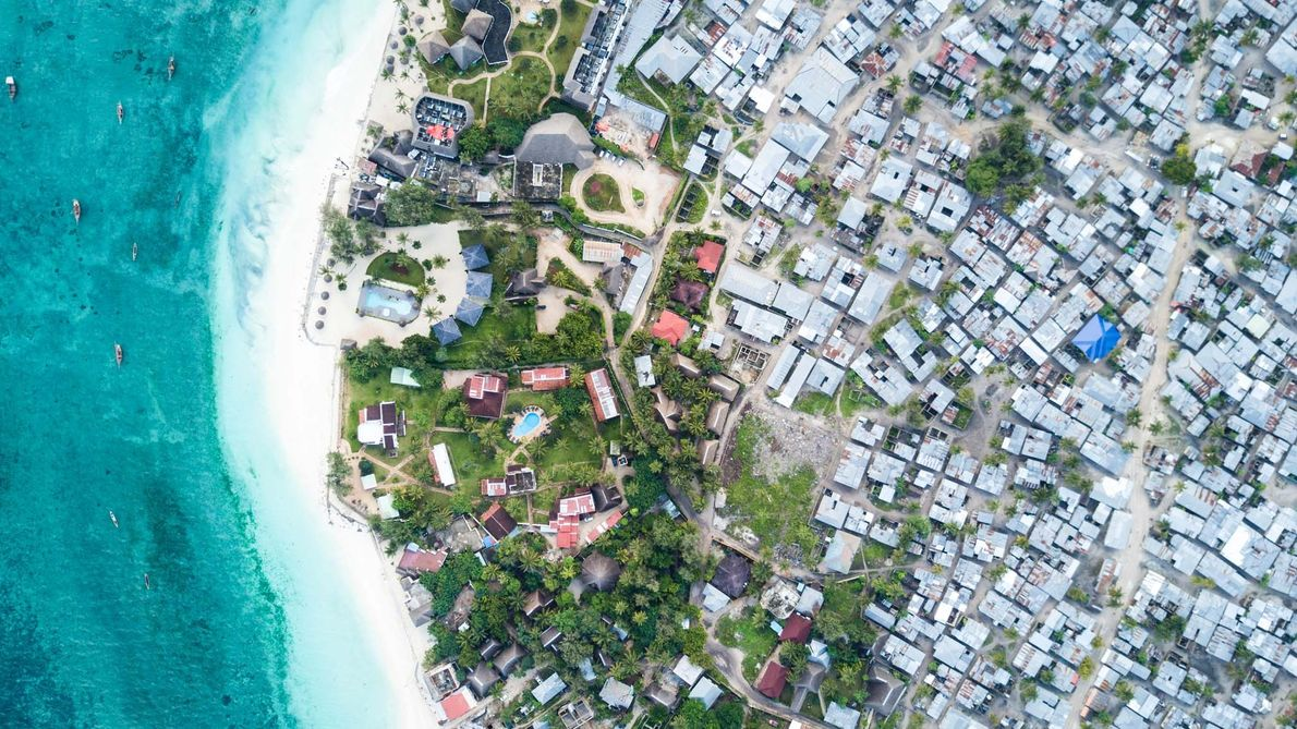 On the northern shore of Zanzibar, luxury hotels consume a disproportionate amount of the island's resources.