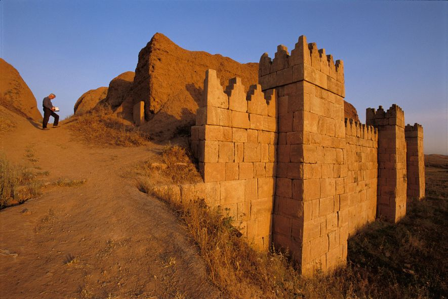 The walls of Nineveh were built around A.D. 700 to protected the Assyrian capital, at the ...