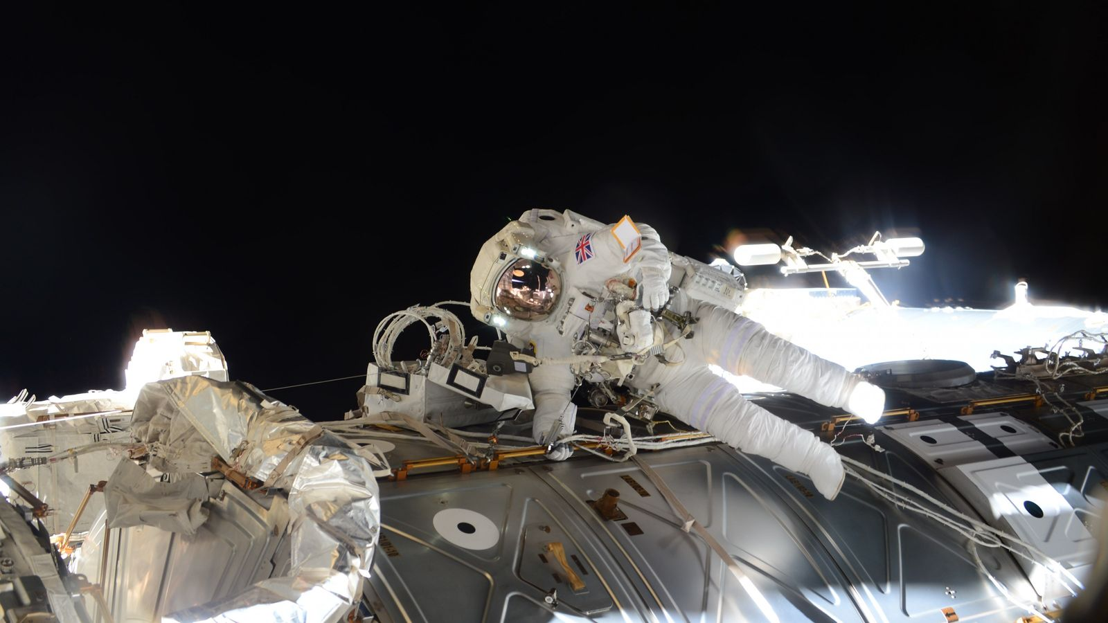ESA astronaut Tim Peake during a spacewalk.